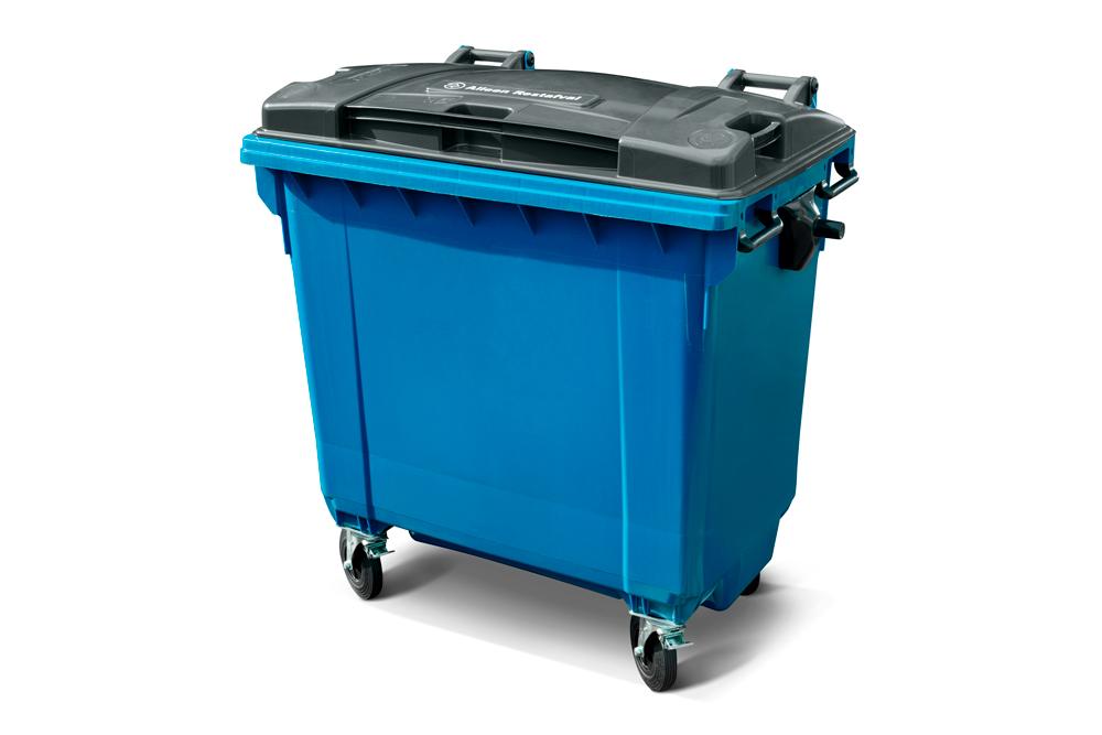 770 liter bedrijfsafval rolcontainer huren