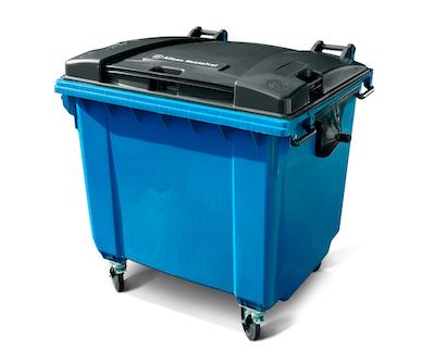 Bedrijfsafval 1100 liter (kunststof) rolcontainer