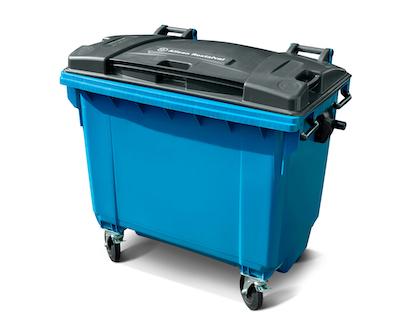 Bedrijfsafval 660 liter (kunststof) rolcontainer