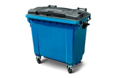 Bedrijfsafval 770 liter (kunststof) rolcontainer